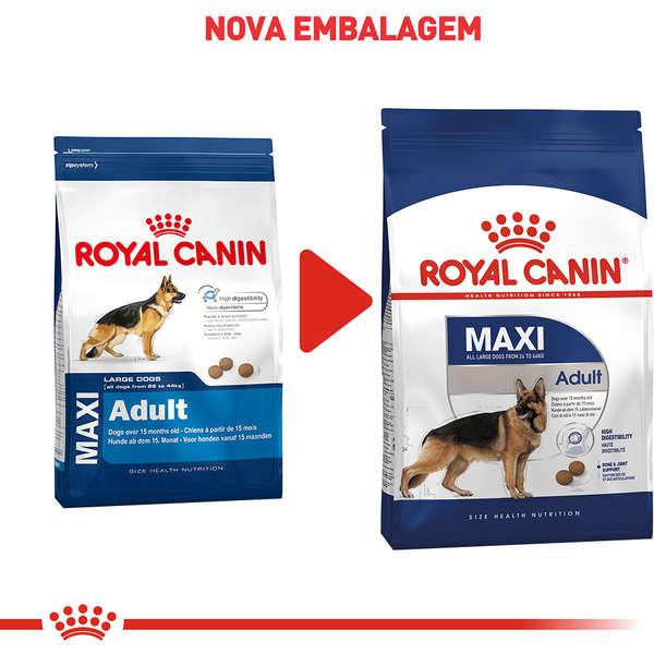 Ração Royal Canin Maxi Adult para Cães Adultos Grandes a partir de 15 Meses de Idade – 15 Kg