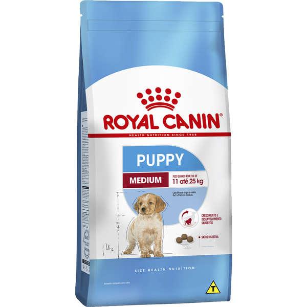 Ração Royal Canin Medium Junior para Cães Filhotes de Raças Médias de 2 a 12 Meses de Idade