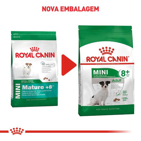 Ração Royal Canin Mini Adult 8+ para Cães Adultos de Raças Pequenas com 8 Anos ou mais