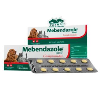 Anti-helmíntico Mebendazole® Vetnil Comprimidos